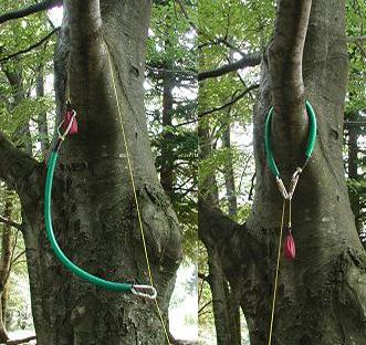 Установка анкерной петли friction saver с помощью шнура throw line